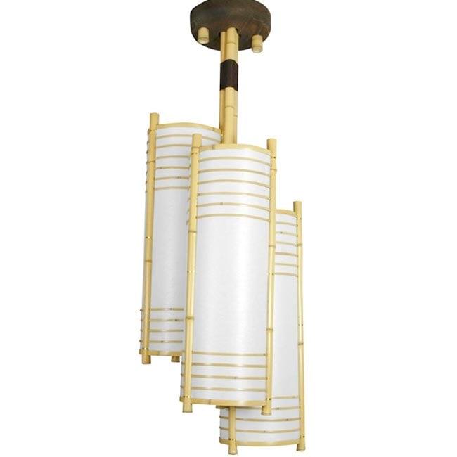 Handmade Bamboo 41-inch Kamakura Japanese-style Hanging Lantern (China)