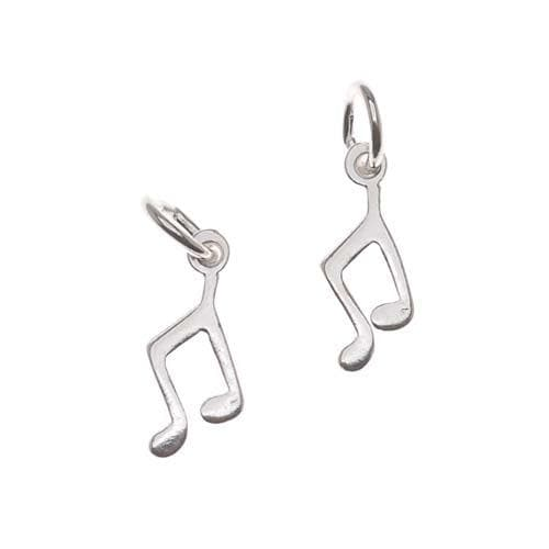 Beadaholique Silverplated Pewter Sleek Musical Notes Charms (Set of 2)