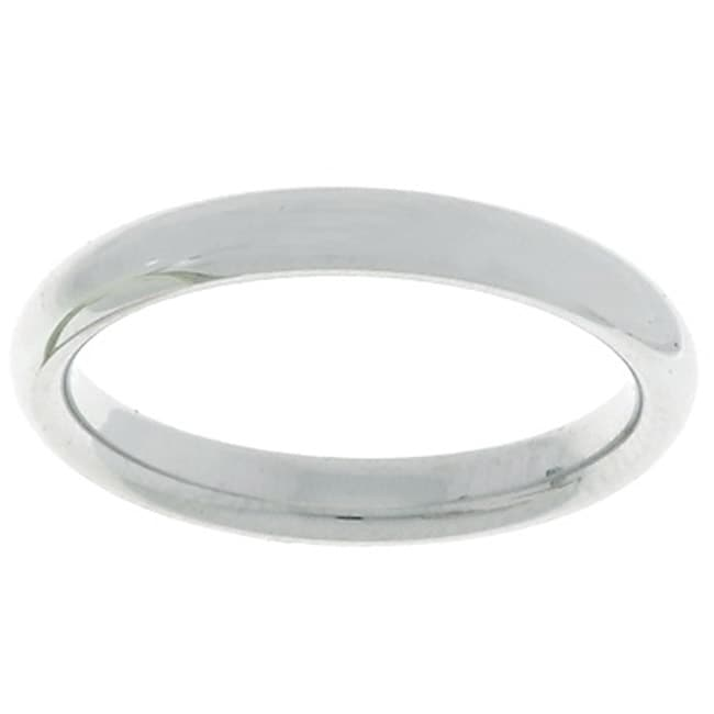 14k White Gold Women's 3-mm Comfort Fit Wedding Band