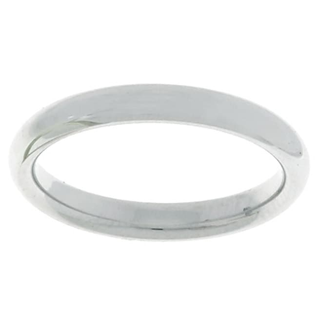 14k White Gold Men's 3-mm Comfort Fit Wedding Band