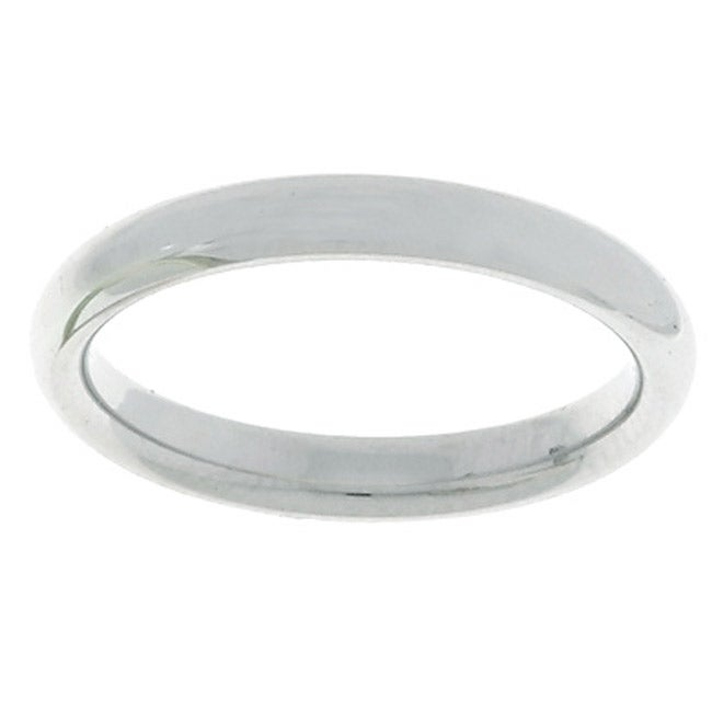 10k White Gold Women's Comfort Fit 3-mm Wedding Band