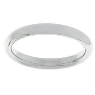 10k White Gold Women's Comfort Fit 3-mm Wedding Band (Option: 4)