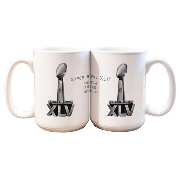Super Bowl XLV (45) 15-ounce Ceramic Mug