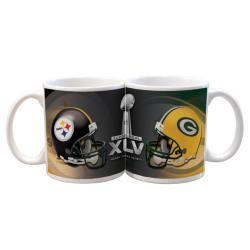 Super Bowl XLV 11-oz Dueling Helmets Ceramic Mug - Thumbnail 0