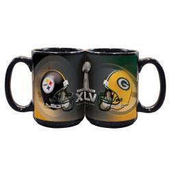 Super Bowl XLV 15-oz Dueling Helmets Ceramic Mug - Thumbnail 1