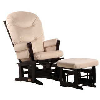 Dutailier Ultramotion Beige Microfiber Glider Chair/ Ottoman Set