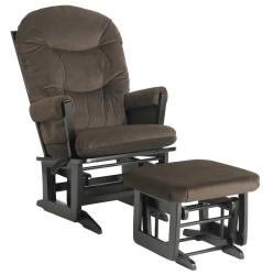 Dutailier Ultramotion Hardwood Brown Glider and Ottoman