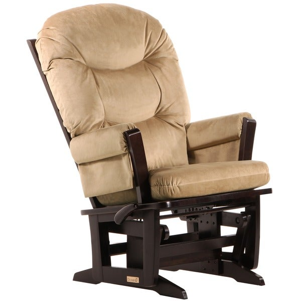 Dutailier Modern Light Brown Microfiber Glider Chair
