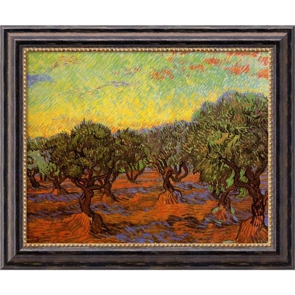 Vincent van Gogh 'Olive Grove (L'Uliveto)' Framed Art Canvas
