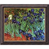Vincent van Gogh 'Irises In The Garden' Framed Art Canvas 24 x 20-inch