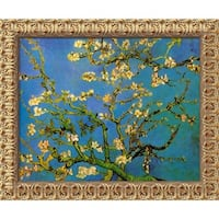 Vincent van Gogh 'Almond Branches in Bloom, San Remy 1890 (iii)' Framed Art Canvas