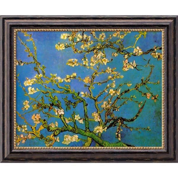 Vincent van Gogh 'Almond Branches in Bloom, San Remy 1890, detail (iii)' Framed Art Canvas