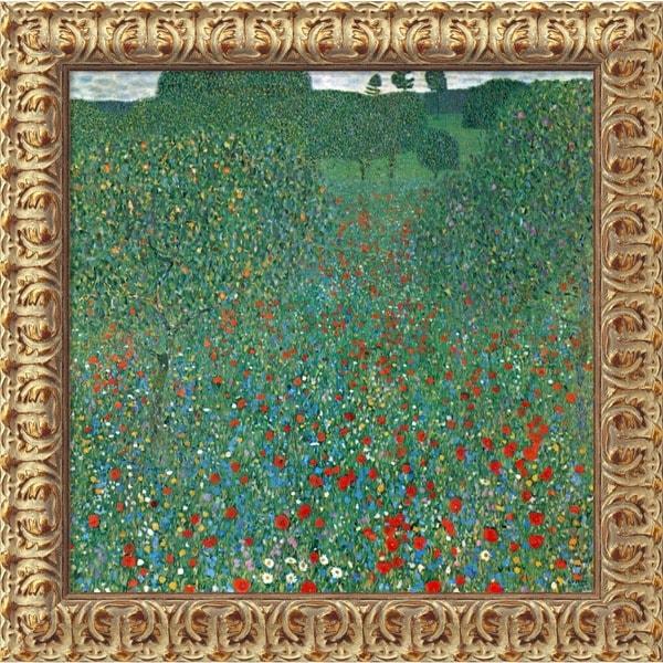 Gustav Klimt X27 Field Of Poppies Campo Di Papaveri