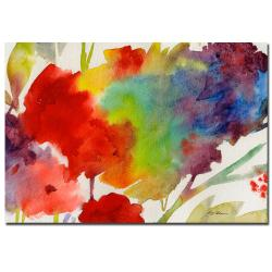 Sheila Golden 'Rainbow Flowers' Gallery-wrapped Canvas Art - Thumbnail 2