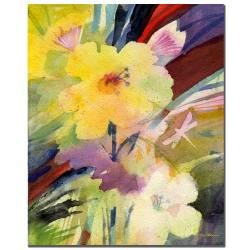 Sheila Golden 'Yellow Dragonfly' Gallery-wrapped Canvas Art