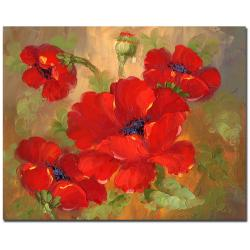 Poppies' Gallery-wrapped Canvas Art - Thumbnail 2