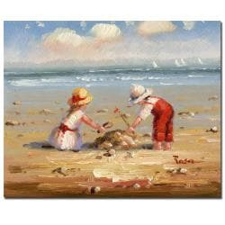 At the Beach IV' Gallery-wrapped Canvas Art