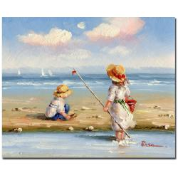 At the Beach III' Gallery-wrapped Canvas Art
