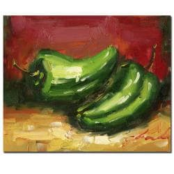 Jalopeno Peppers' Gallery-wrapped Canvas Art