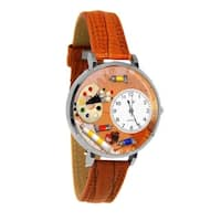 Whimsical Women's Artist Theme Tan Leather Watch