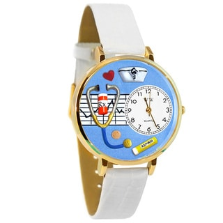 Link to Whimsical Women's Nurse Theme White Leather Watch Similar Items in Women's Watches