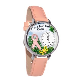 Whimsical Women's 'Time for the Cure' Pink Watch