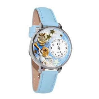 Whimsical Women's Angel Harp Theme Baby Blue Watch