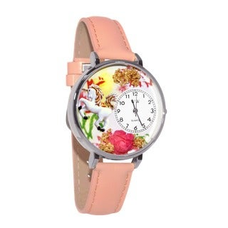 Whimsical Women's Unicorn Theme Pink Leather Watch