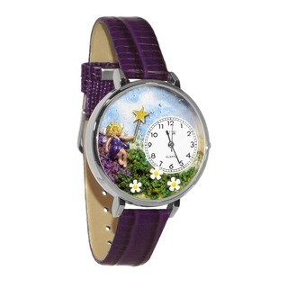 Whimsical Women's Fairy Theme Purple Leather Watch