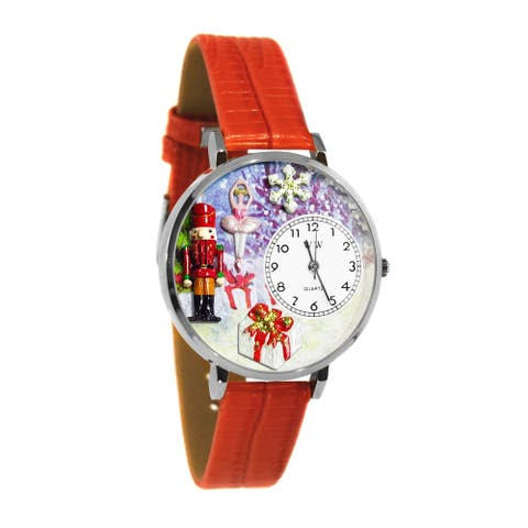 Christmas Nutcracker Red Leather Whimsical Watches Unisex U1220010