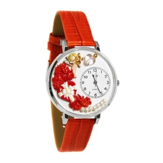 Whimsical Women's Love Theme Red Leather Watch