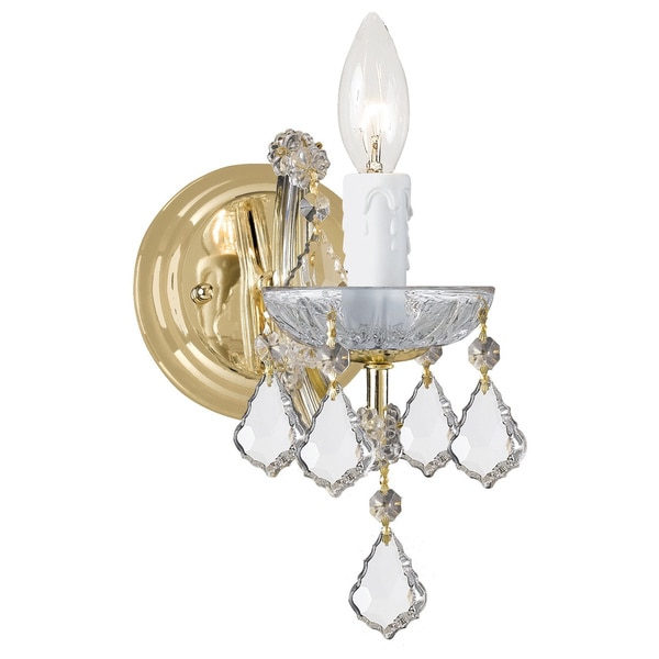 Crystorama Maria Theresa 1-light Gold Wall Sconce