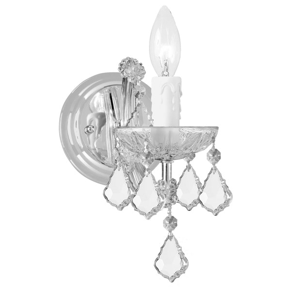 Crystorama Maria Theresa 1-light Chrome Wall Sconce
