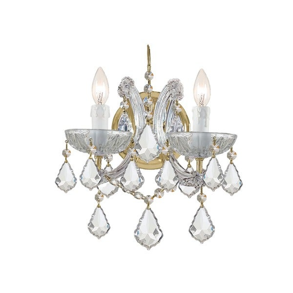Crystorama Maria Theresa 2-light Gold Wall Sconce