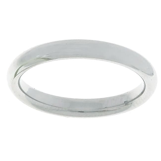 10k White Gold Men's Comfort Fit 3-mm Wedding Band