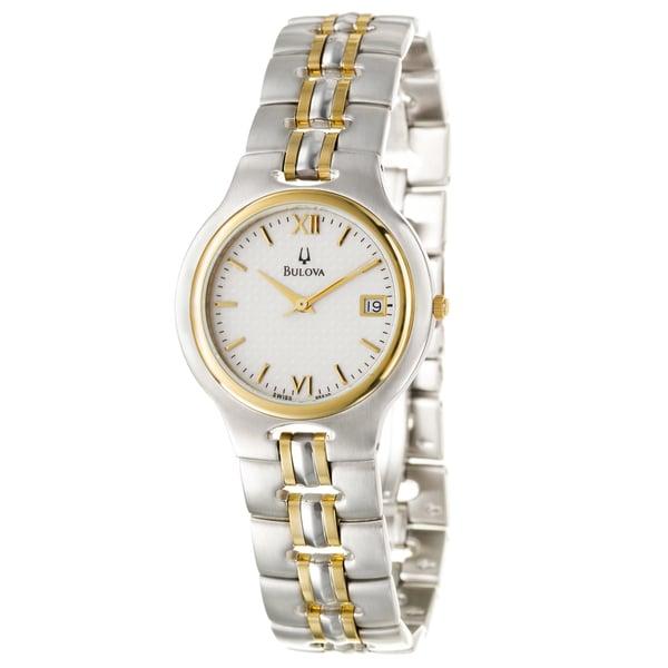 Bulova Men's 'Bracelet' 18k Gold and Stainless Steel Quartz Watch