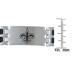 Stainless Steel New Orleans Saints Logo Bracelet