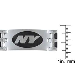 Stainless Steel New York Jets Logo Bracelet - Thumbnail 2