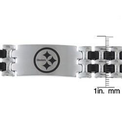 Steelers Stainless Pittsburgh Steelers Logo Bracelet