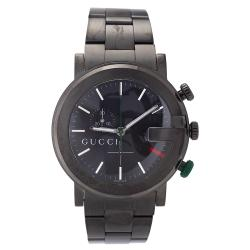 Gucci Men's 101 Stainless Steel Black Dial Chronograph Watch