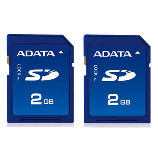 AData 2GB SD Memory Card for Digital Devices (Pack of Two)