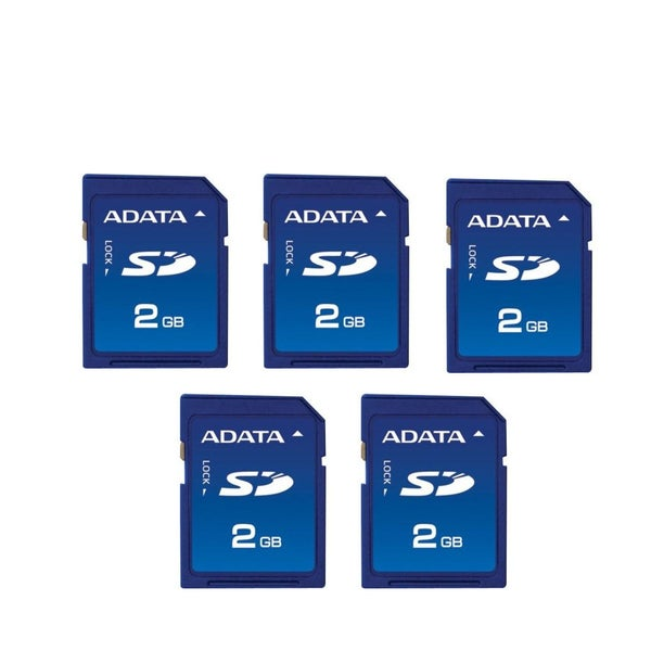 ADATA 2GB SD Memory Cards (Pack of 5)