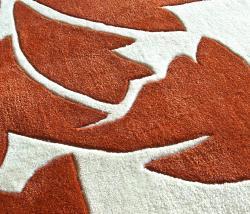 nuLOOM Handmade Pino Rust Floral Fantasy Rug (7'6 x 9'6) - Thumbnail 2