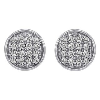 Sterling Silver 1/10ct or 1/5ct TDW Diamond Earrings