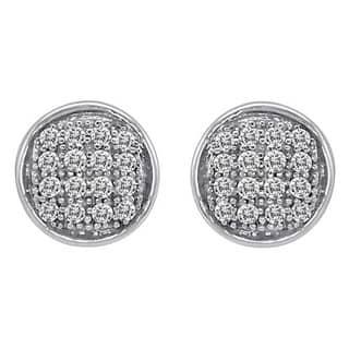 Sterling Silver 1 10ct Or 5ct Tdw Diamond Earrings