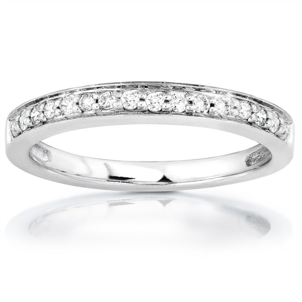Annello by Kobelli 14k White or Rose Gold 1/6ct TDW Diamond Wedding Band by Kobelli (H-I, I1-I2)