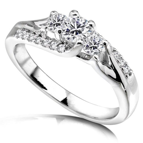 Annello by Kobelli 14k White Gold 1/2ct TDW Diamond Engagement Ring (H-I, I1-I2)