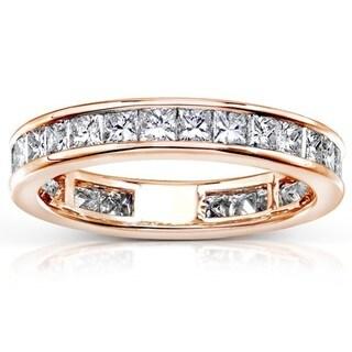 Annello by Kobelli 14k Gold 2ct TDW Diamond Eternity Wedding Band (H-I, I1-I2)