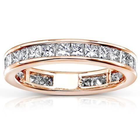 Annello by Kobelli 14k Gold 2ct TDW Diamond Eternity Wedding Band