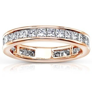 Annello by Kobelli 14k Gold 2ct TDW Diamond Eternity Wedding Band (H-I, I1-I2)
